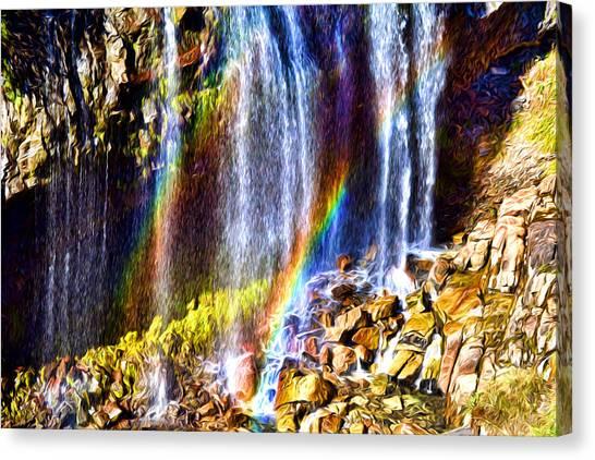 Falling Rainbows Canvas Print