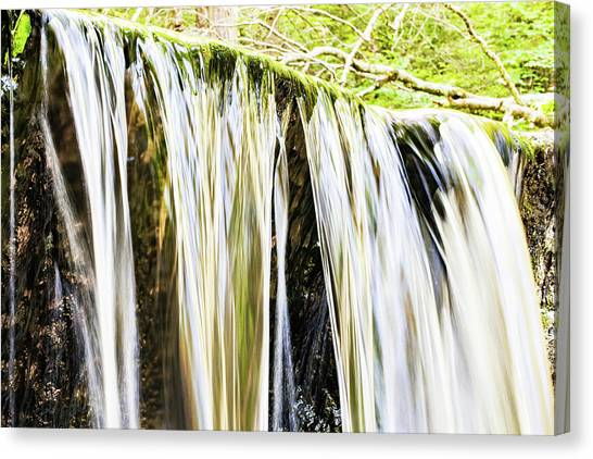 Falling Water Mirror Canvas Print