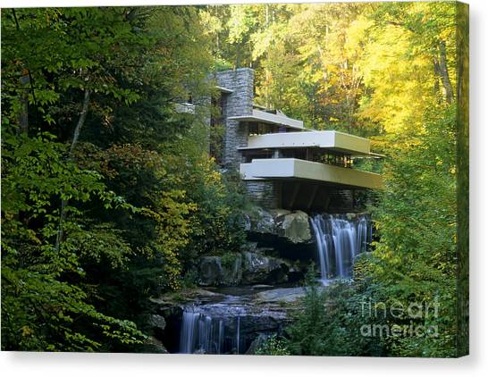 Waterfalls Canvas Print - Fallingwater by Bill Bachmann