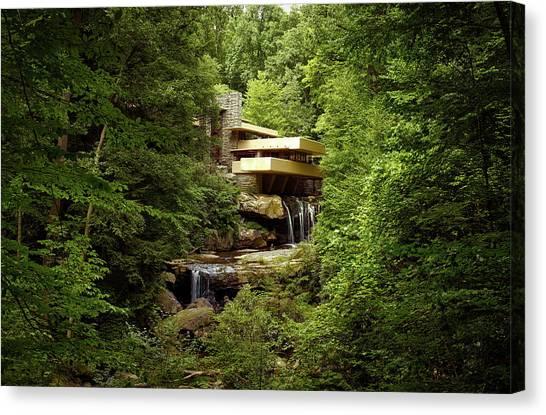 Canvas Print - Fallingwater  by Mountain Dreams