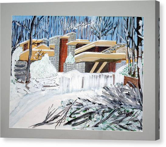 Fallingwater Canvas Print by Patricia Fragola