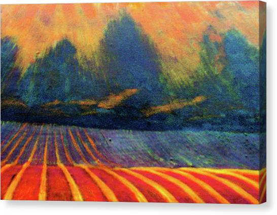 Canvas Print featuring the painting Fallow Field 2 by Jeanette Jarmon