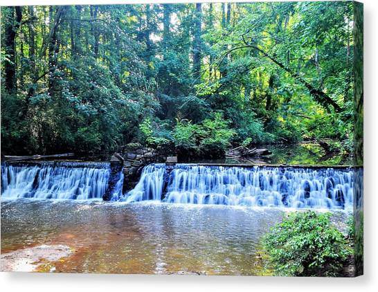 Emory University Canvas Print - Falls At Lullwater Preserve by Mary Ann Artz