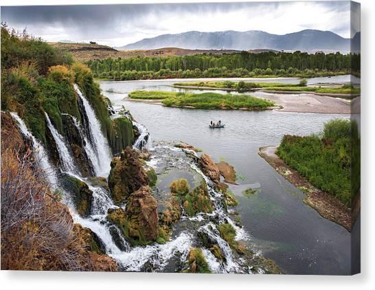Falls Creak Falls And Snake River Canvas Print