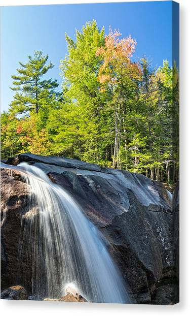 Canvas Print featuring the photograph Falls Diana's Baths Nh by Michael Hubley