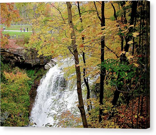 Falls In Autumn Canvas Print