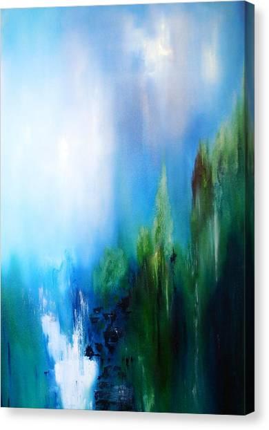 Falls Canvas Print by Larry Ney  II