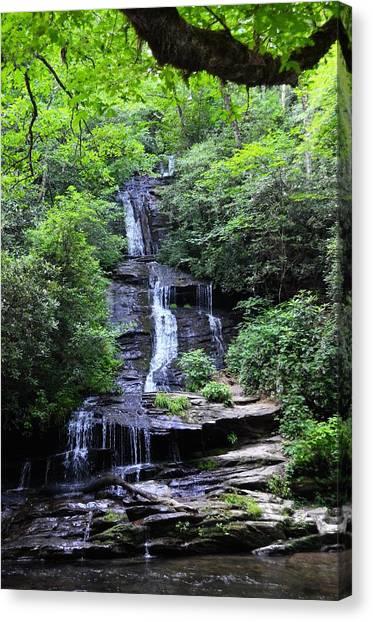 Falls Near Bryson City Canvas Print