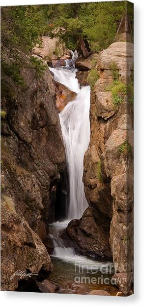 Falls On Falling River Canvas Print