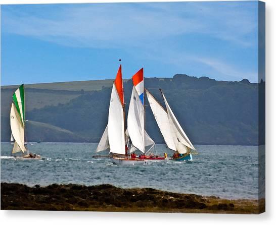 Falmouth Reggatta  Canvas Print