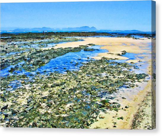 False Bay Low Tide Canvas Print by Jan Hattingh