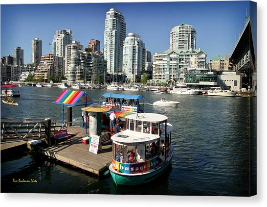 False Creek In Vancouver Canvas Print