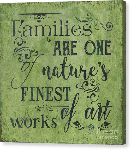 Dad Canvas Print - Families Are... by Debbie DeWitt