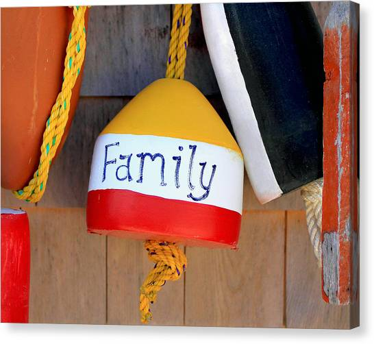 Family Buoy Canvas Print