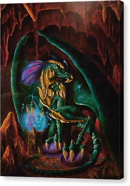 Fantasy Cave Canvas Print - Family Jewels by VShane Colclough