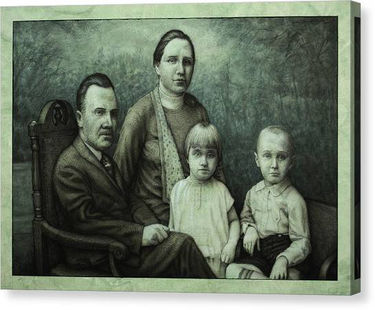 Victorian Canvas Print - Family Portrait by James W Johnson