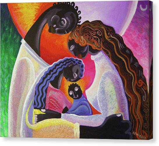 Family Unity Canvas Print by Kevin McDowell