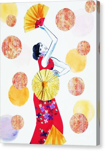 Fan Dance Canvas Print