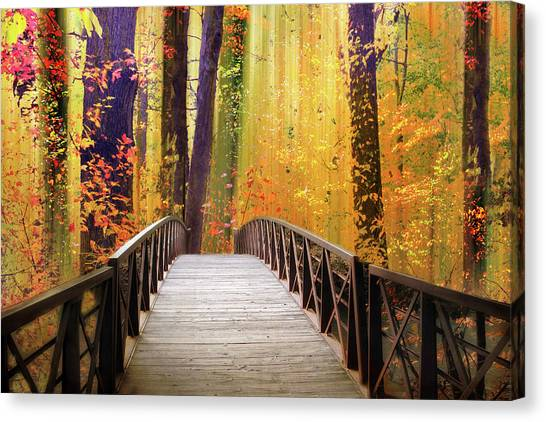 Canvas Print featuring the photograph Fanciful Footbridge by Jessica Jenney