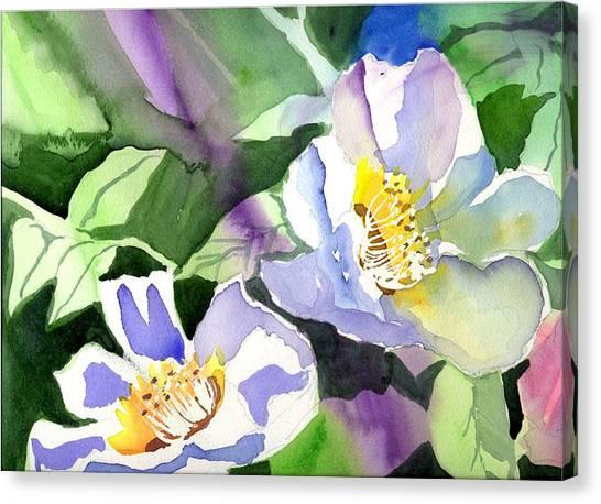 Fancy Flowers Canvas Print by Janet Doggett