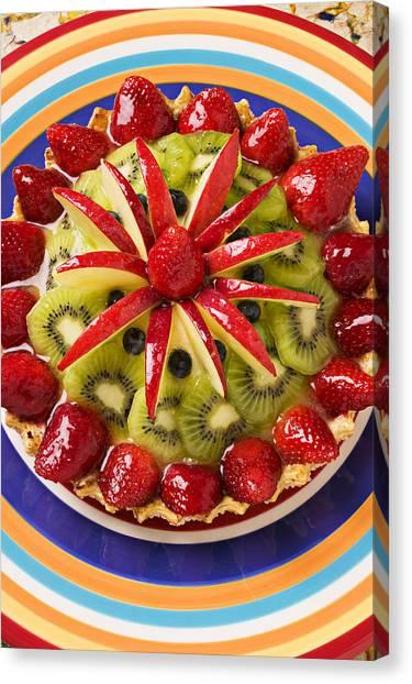 Kiwis Canvas Print - Fancy Tart Pie by Garry Gay