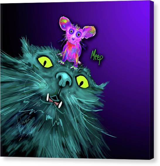 Fang And Meep  Canvas Print