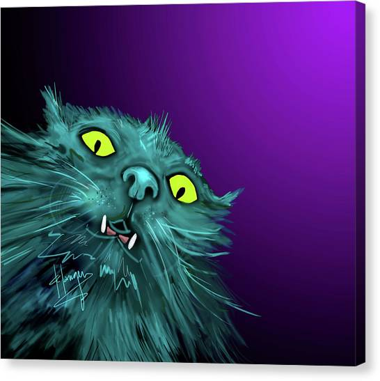 Fang Dizzycat Canvas Print