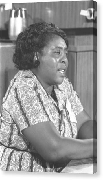 Democratic Politicians Canvas Print - Fannie Lou Hamer 1917-1977 by Everett