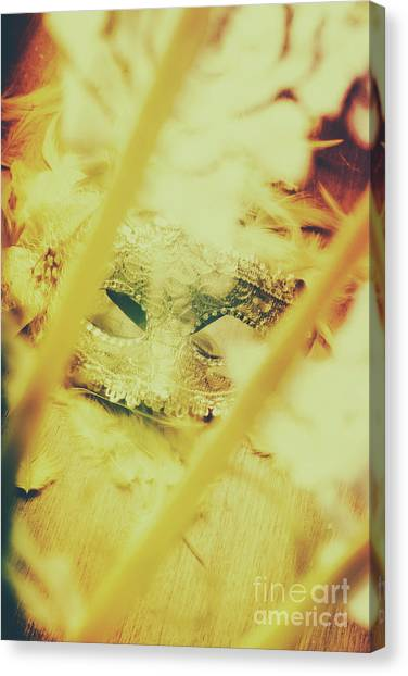 Masquerade Canvas Print - Fanning The Drama by Jorgo Photography - Wall Art Gallery