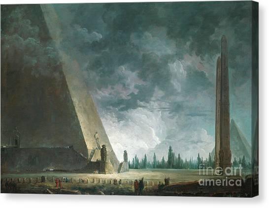 Egyptian Art Canvas Print - Fantaisie Egyptienne by Hubert Robert