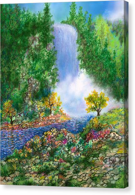 Angel Falls Canvas Print - Fantasia Falls by William Vanya