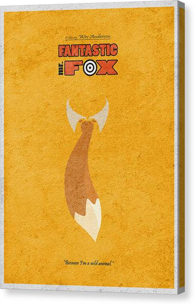 Foxes Canvas Print - Fantastic Mr. Fox by Inspirowl Design