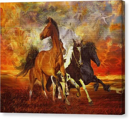 Fantasy Horse Visions Canvas Print