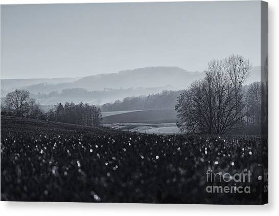 Far Away, The Misty Mountains Cold Canvas Print