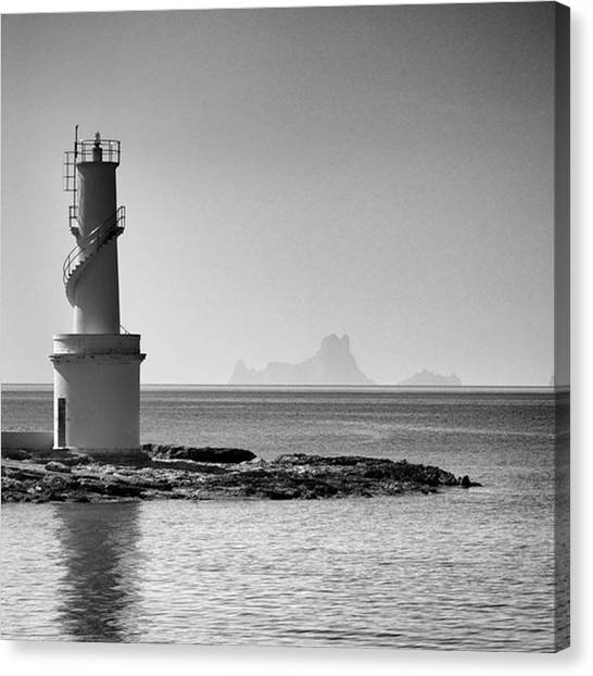 Amazing Canvas Print - Far De La Savina Lighthouse, Formentera by John Edwards