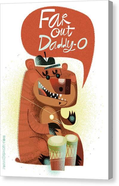 Bongos Canvas Print - Far Out Daddy O by Daniel Guidera