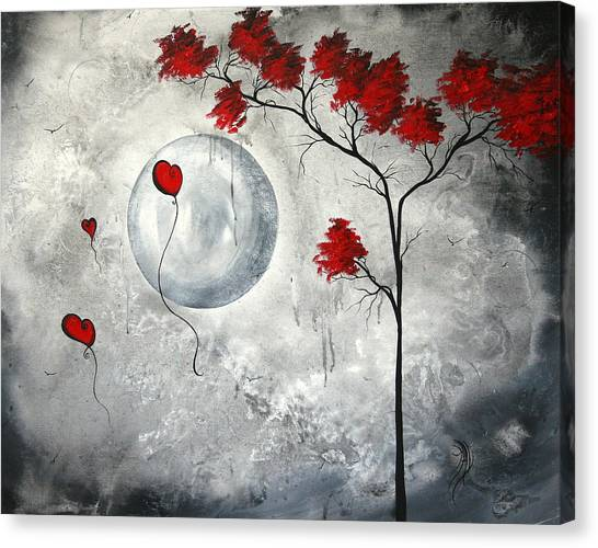 Balloons Canvas Print - Far Side Of The Moon By Madart by Megan Duncanson