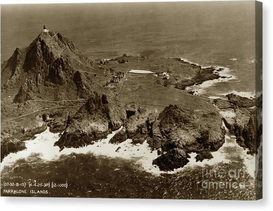Farallon Island Lighthouse Pacific Ocean April 4, 1924 Canvas Print
