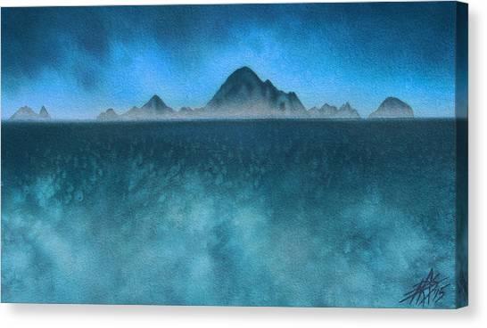 Farallon Islands II Or The Misty Isle Canvas Print by Robin Street-Morris