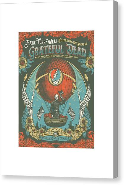 Grateful Dead Canvas Print - Fare Thee Well by Gd
