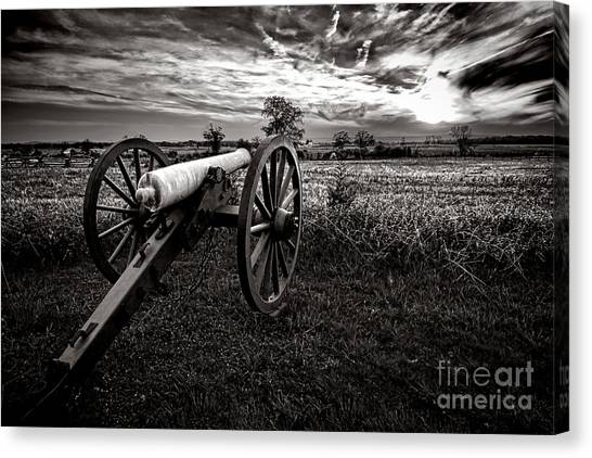 Confederate Army Canvas Print - Farewell To Gettysburg by Olivier Le Queinec
