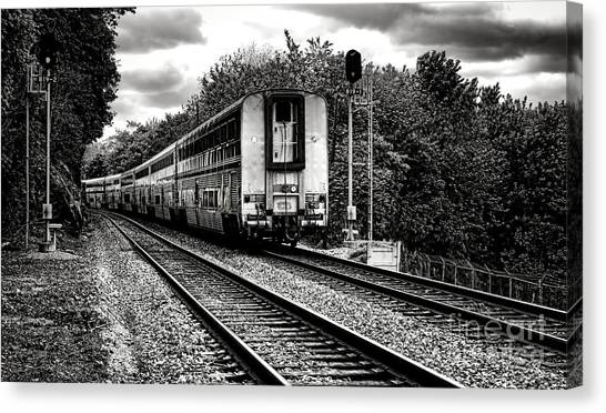 Amtrak Canvas Print - Farewell Traveler  by Olivier Le Queinec