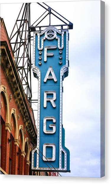 Fargo Blue Theater Sign Canvas Print