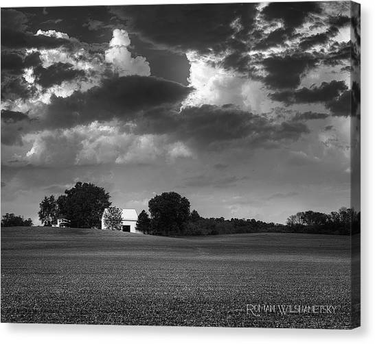 Farm Before The Storm Canvas Print