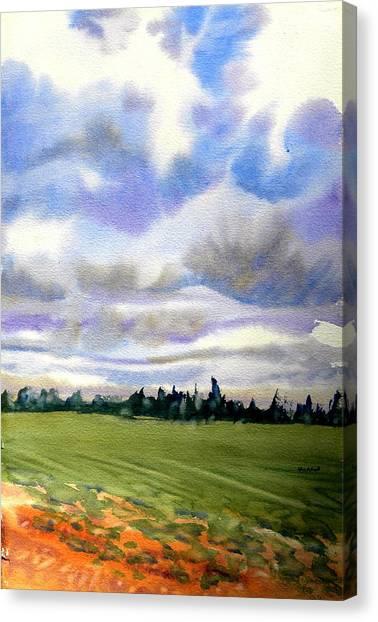 Farm  Field P.e.i. Canvas Print by Patricia Bigelow