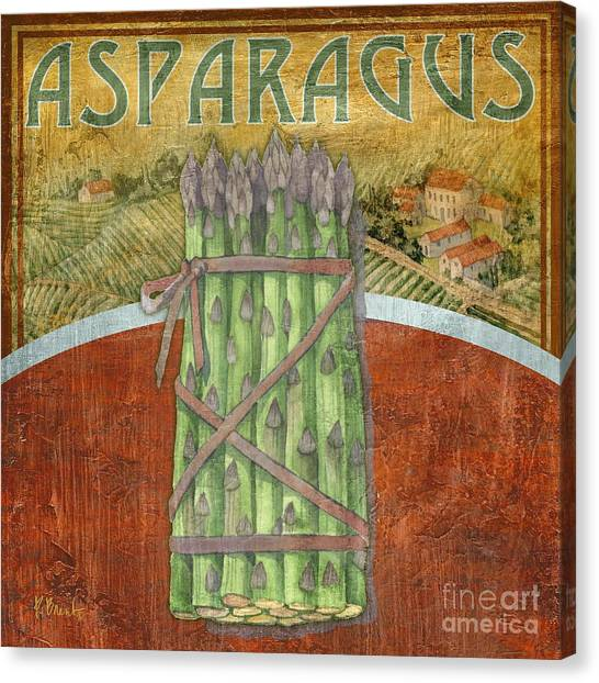 Asparagus Canvas Print - Farm Fresh Asparagus by Paul Brent
