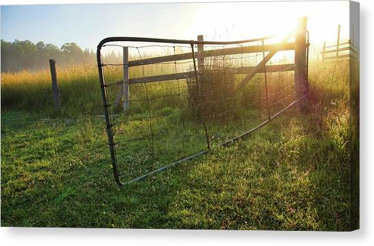 Farm Gate Canvas Print