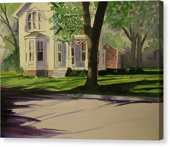 Farm House In The City Canvas Print by Walt Maes