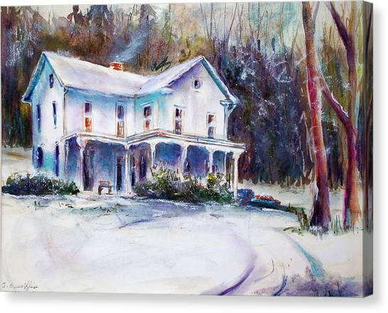 Farm House Canvas Print by Joyce A Guariglia