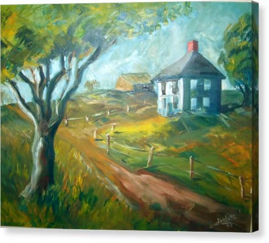 Farm In Gorham Canvas Print by Joseph Sandora Jr